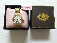 NWT Juicy Couture Diamond Detail Gold Plated Stainless Steel Watch 1900526 $350