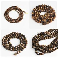 Natural Tiger's Eye Round Ball Spacer Loose Beads 2mm 4mm 6mm 8mm 10mm 12mm
