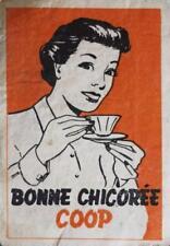 Old Print.  BONNE CHICOREE COOP - matchbox cover art (Belgium)