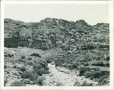 1938 Crypts Hewn Out of Rock of Petra Original News Service Photo
