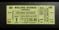 Rolling Stones Full Ticket Nov. 1,1964 Long Beach,Ca. 2nd US Tour