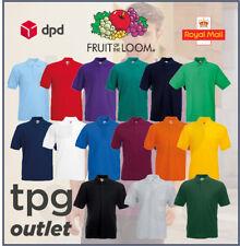 Fruit Of The Loom Mens Polo Shirt Plain Polo T Shirt Polo Top Lot