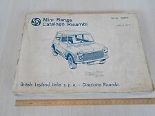 CATALOGO RICAMBI ORIGINALE 1977 LEYLAND MINI COOPER 1000 MK1-2-3 E MINOR 850