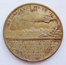1924 ~ DR. HUGO ECKENER ~ LZ126 AIRSHIP / BLIMP ~ SILVER PLATE ~ LAUER NUERNBERG