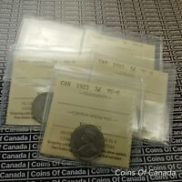 1925 Canada 5 Cent Coin ICCS VG-8 - KEY DATE - Multiple Available #coinsofcanada