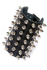 7 Row Spike Studded Leather Wristband. Rock Punk