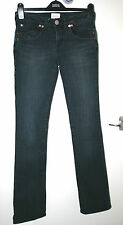 Whistles UK8 EU36 blue stretch jeans with lace detailing to back of waist