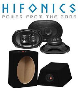 Hifonics Aufbau Lautsprecher oval 15x23cm Triax 250 Watt mit MDF Gehäuse (Paar)