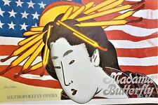 LARRY RIVERS Vintage Signed Metropolitan Opera Lithograph 1984 MADAMA BUTTERFLY