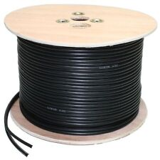 100m Shotgun Cable 2 Cores Video Power DC Coaxial Camera DVR RG59 Wooden spool
