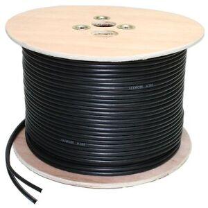 Shotgun 100m Cable 2 Cores Video Power DC Coaxial Camera DVR RG59 Wooden spool
