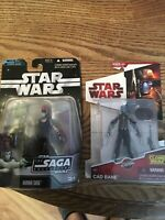 Star Wars The Clone Wars CW22 Cad Bane 2009 + Aurra Sing Saga Collection