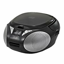 Magnavox MD6924 Portable Top Loading CD Boombox with AM/FM Stereo Radio in Black
