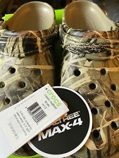 Crocs Classic Realtree Max-4 Clogs Camo Khaki MENS 13 NWT