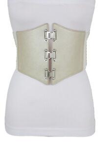 Sexy Women Dressy Fashion Champagne Corset Beige Belt Hip Waist Elastic L XL XXL