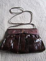 Designer J. RENEE Vintage Bag Clutch Handbag Purse Brown Snakeskin With Tags