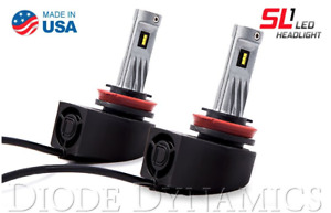 Diode Dynamics H11 SL1 LED Head Lights (White) - Made In the USA - Plug and Play