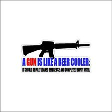 A Gun Is Like A Beer  2nd Amendment Decal Car Window Sticker Second Amendment