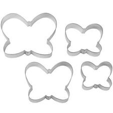 4 WILTON Nesting Butterfly Cutters Tin Cookie Tarts 2308-1119 ASST Sizes