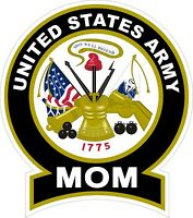 "UNITED STATES Army MOM Decal Window Bumper Sticker 4"" X 5"""