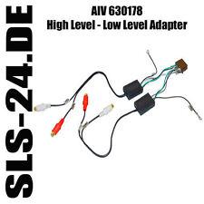 High Level Low Lever Autoradio Adapter 4 Kanal ISO auf 4 x Cinch AIV 630178