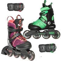 K2 Marlee Raider Pack Kinder-Inline Skates Größenverstellbar mit Schützerset