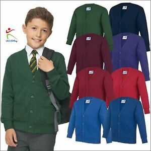 AWDis New Kids Academy Cardigan 4 Buttons 2 Pockets Boys Girls School Casual TOP