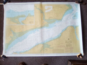 Vintage Admiralty Maritime Chart 2040 The Solent West Yarmouth to Cowes