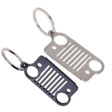 Stainless Steel Jeep Grill Key Chain KeyChain KeyRing CJ JK TJ YJ XJ