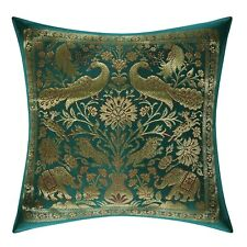 Brocade Silk Cushion Cover Indian Home Decorative Sofa Pillow Case Cover Throw