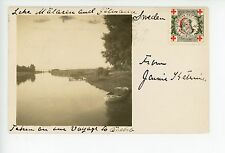 Lake Mälaren RPPC Sweden Foto Photo Antique Vykort BOAT ca. 1912