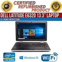 """C Grade Dell Latitude E6320 13.3"""" Intel i5 4GB RAM 250GB HDD Win 10 WiFi Laptop"""