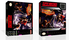 Knights of The Round SNES Replacement Game Case Box + Cover Art work (No Game)