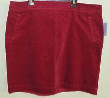 Laura Scott Corduroy Straight Skirt Beet Red Plus Size 3X NWOT