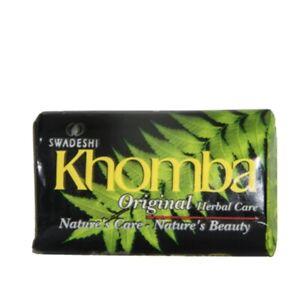 Swadeshi Khomba Herbal Beauty Body Soap 10 X 90g Pack Margosa Oil (UK SELLER)