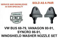 VW BUS VANAGON SYNCRO WINDSHIELD WASHER NOZZLES  QTY 2   211955993