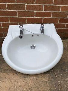 Bathroom Sink With Pedestal, Excellebt Quality Ceramic White Twyfords