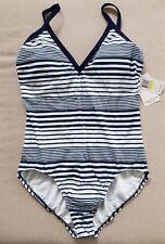 NWT! Nautica Women's One Piece Swimsuit, Size M
