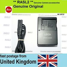 Genuine Leica Charger BC-DC12 for BP-DC12 ,V-Lux4 ,V-Lux (Typ 114), Q (Typ 116)