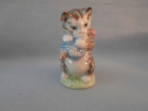 EARLY Beswick Beatrix Potter's MISS MOPPET Figurine  F Warne GOLD BACKSTAMP