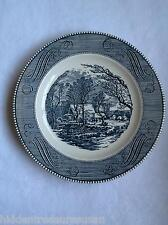 Currier & Ives Royal China 10 inch Dinner Plates lot of 2 Cavalier Mark