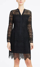 ELIE TAHARI 'Whitney'~ Black Geo Lace Overlay Illusion Party Dress 4 NEW $498