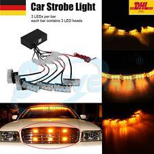 Auto KFZ 18LED Dash Strobe Flashlight Blitzer Licht Polizei Warnleuchte Gelb 12V