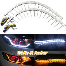 2x Switchback LED Strip Lights with bright Signal For Headlight Retrofit NEW