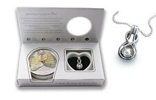 Infinity Necklace Pendant Locket Freshwater Cultured Pearl in Oyster Kit Set 18""