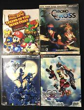 Super Mario RPG Strategy Guide LOT w Kingdom Hearts, Chrono Cross - RARE - OOP