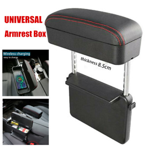 Universal Car Retractable Central Armrest Box Wireless Charging Cup Holder Case