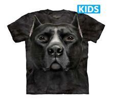 The Mountain Black Pitbull Youth T-Shirt Dog Black