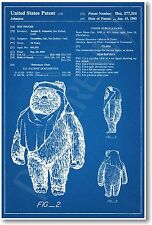 Star Wars Wicket Ewok Patent - NEW Invention Patent Movie Art POSTER