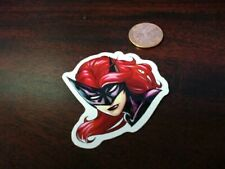 GLOSSY SMALL  CARTOON SUPERHERO GIRL  Sticker  Laptop/Phone NEW